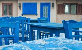 Blue tavern Stock Photos