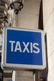 Blue Taxi Sign Royalty Free Stock Images