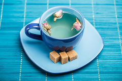 Blue tea cup Royalty Free Stock Photography
