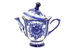 Blue tea-port royalty free stock photos