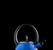 Blue tea pot Royalty Free Stock Images