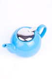 Blue tea-pot Royalty Free Stock Photography