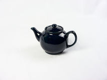 Blue Tea Pot on White Background Royalty Free Stock Image
