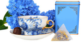 Blue tea set. Stock Photography