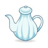 Blue teakettle  illustration Stock Images