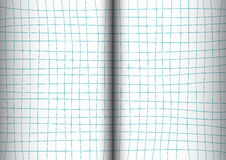 Blue Teal Grid White Background open book Stock Images