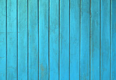 Blue teal grunge painted wooden planks panel Stock Image