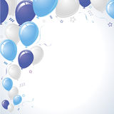Blue and Teal Party Balloons Rising Royalty Free Stock Images