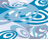Blue and teal swirly background royalty free illustration