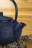 Blue Teapot with Flowers Royalty Free Stock Image