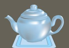 Blue teapot Royalty Free Stock Photos