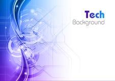 Blue tech Stock Image