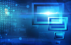 Blue tech abstract background Royalty Free Stock Image