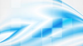 Blue tech abstract wavy video animation stock footage