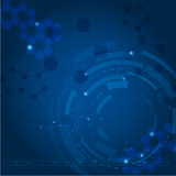 Blue tech background. Vector illustration for your design Royalty Free Stock Photo