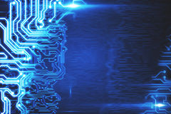 Blue tech background. Abstract blue high tech background. 3D Rendering Royalty Free Stock Image