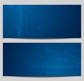 Blue tech banners with circuit board design Royalty Free Stock Photo