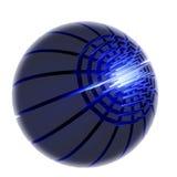 Blue tech logo Stock Photography