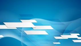 Blue tech corporate wavy video animation stock video