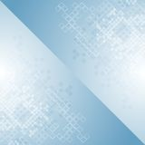 Blue tech geometric background design with squares Stock Photography