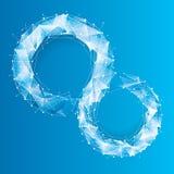 Blue Tech Geometric Background. Royalty Free Stock Photos