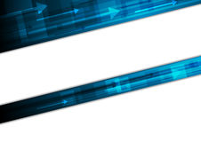 Blue tech motion vector background with arrows Stock Image