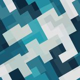 Blue tech square seamless pattern. (eps 10 Stock Photography
