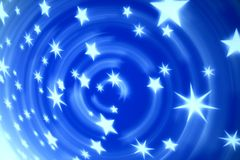 Blue tech stars Royalty Free Stock Photo