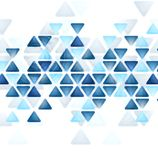 Blue tech triangles on white background Stock Photos