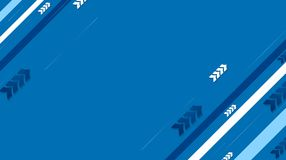 Blue tech vector background with diagonal stripes and arrows Royalty Free Stock Photos