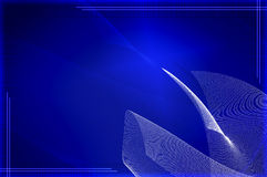 Blue Tech Wallpaper Royalty Free Stock Images