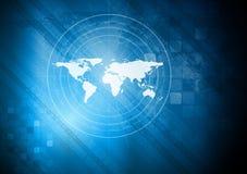 Blue technical background vector illustration