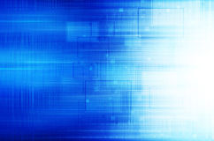 Blue technical background. Blue modern tech abstract background Stock Photography