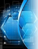 Blue technical background Stock Photo