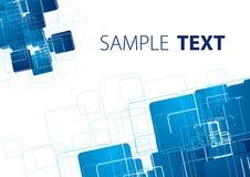 Blue techno background Stock Photo