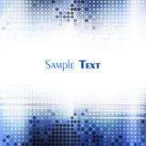 Blue techno mosaic Royalty Free Stock Images