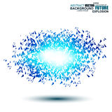 Blue techno style vector explosion Royalty Free Stock Photography