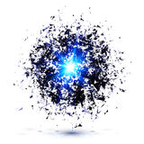 Blue techno style vector explosion Stock Images