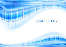 Blue techno template Royalty Free Stock Image