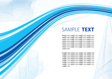 Blue techno template Royalty Free Stock Photography