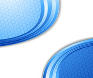 Blue technological cell background Royalty Free Stock Photos
