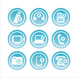 blue technology with arrows signs Royalty Free Stock Photography