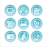 Blue technology with arrows signs Royalty Free Stock Photos