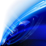 Blue technology background. Stock Images