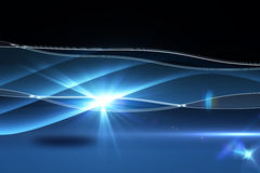 Blue technology background. Blue technology on black background royalty free illustration
