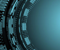 Blue technology background with circle patterns Stock Photography