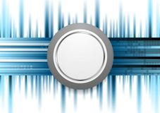 Blue technology background with grey circle Stock Photography