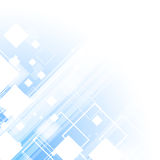 Blue technology business template background. Stock Photo