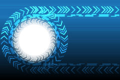 Blue Technology Circle Arrow Background. Vector Illustration Stock Photography
