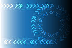 Blue Technology Circle Arrow Background. Vector Illustration Stock Image